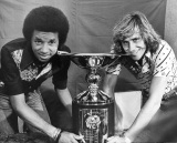 Arthur Ashe and Bjorn Borg