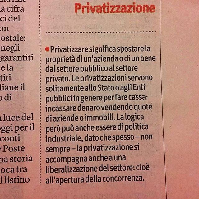 #privatizzazione